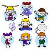 Caráter do miúdo dos desenhos animados Imagens de Stock Royalty Free