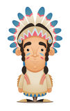 Caráter do nativo americano Foto de Stock