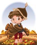 Caráter do outono ilustração royalty free