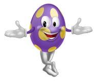 Caráter do ovo da páscoa ilustração stock