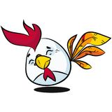 Caráter do ovo da páscoa Mão tirada no estilo clássico dos desenhos animados Foto de Stock Royalty Free