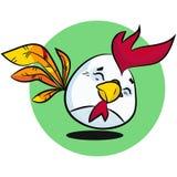 Caráter do ovo da páscoa Mão tirada no estilo clássico dos desenhos animados Imagem de Stock Royalty Free