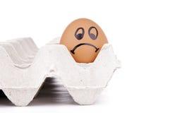 Caráter do ovo triste Imagens de Stock