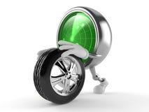 Caráter do radar que rola a roda de reposição ilustração royalty free