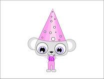 Caráter do rato com chapéu Imagens de Stock Royalty Free