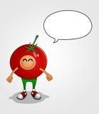 Caráter do tomate Fotos de Stock Royalty Free
