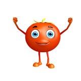 Caráter do tomate com pose da vitória Imagem de Stock Royalty Free