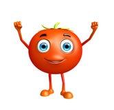Caráter do tomate com pose feliz ilustração royalty free