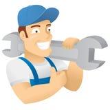 Caráter do trabalhador, canalizador, construção, reparo. Imagens de Stock Royalty Free