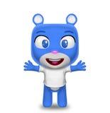 Caráter do urso com t-shirt Fotos de Stock
