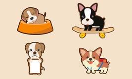 Caráter dog1 ilustração do vetor