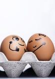 Caráter dos ovos Imagens de Stock