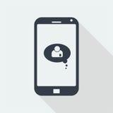 caráter dos povos do handphone, projeto liso humano, ícone dos povos Fotografia de Stock