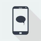 caráter dos povos do handphone, projeto liso humano, ícone dos povos Foto de Stock