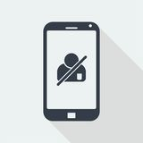 caráter dos povos do handphone, projeto liso humano, ícone dos povos Imagem de Stock Royalty Free