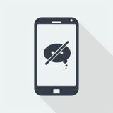 caráter dos povos do handphone, projeto liso humano, ícone dos povos Fotografia de Stock Royalty Free