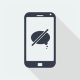 caráter dos povos do handphone, projeto liso humano, ícone dos povos Imagens de Stock Royalty Free