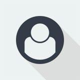 caráter dos povos, projeto liso humano, ícone dos povos Imagem de Stock