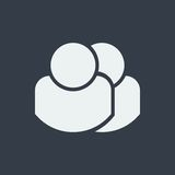 caráter dos povos, projeto liso humano, ícone dos povos Imagens de Stock