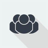 caráter dos povos, projeto liso humano, ícone dos povos Imagens de Stock Royalty Free