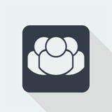 caráter dos povos, projeto liso humano, ícone dos povos Foto de Stock