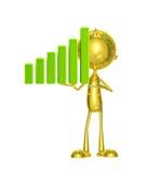 Caráter dourado com gráfico Fotografia de Stock