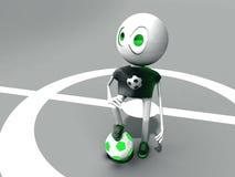 Caráter e esfera verde. Fotografia de Stock