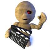 caráter egípcio do monstro da mamã dos desenhos animados 3d engraçados que faz um filme ilustração royalty free