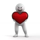 Caráter engraçado abstrato com coração Foto de Stock