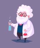 Caráter engraçado do cientista Vetor Fotografia de Stock