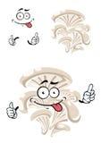 Caráter engraçado do cogumelo de ostra dos desenhos animados Imagem de Stock Royalty Free