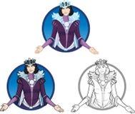Caráter fêmea bonito da rainha do inverno Imagem de Stock