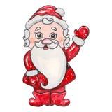 Caráter fabuloso tirado mão do Natal da aquarela ilustração do vetor