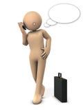 Caráter a falar em um smartphone ilustração royalty free