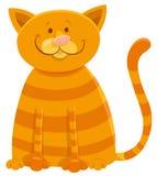 Caráter feliz do animal dos desenhos animados do gato ilustração royalty free