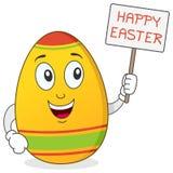 Caráter feliz do ovo da páscoa Imagens de Stock