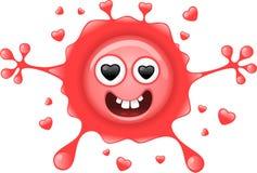 Caráter Funky de Splat do amante ilustração stock