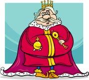 Caráter gordo da fantasia dos desenhos animados do rei ilustração do vetor