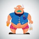 Caráter gordo do homem Imagens de Stock Royalty Free