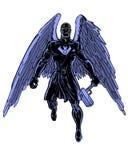 Caráter ilustrado banda desenhada do corvo da sombra Imagem de Stock
