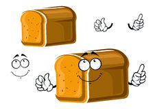 Caráter inteiro do pão da grão dos desenhos animados Imagem de Stock Royalty Free