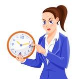 Caráter irritado da mulher do chefe ilustração stock