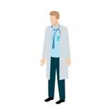 Caráter isométrico do doutor Fotografia de Stock Royalty Free