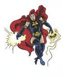 Caráter místico ilustrado banda desenhada da rainha da dimensão Foto de Stock Royalty Free