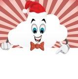 Caráter-Natal da nuvem dos desenhos animados do divertimento, conceito do ano novo Fotos de Stock