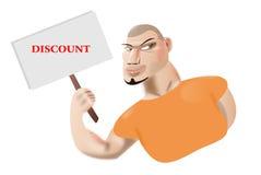 Caráter que guarda o sinal branco escrevê-lo em seu texto Fotografia de Stock