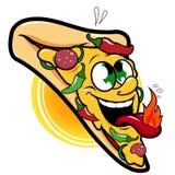 Caráter quente picante da pizza Fotografia de Stock Royalty Free