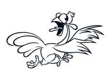 Caráter running gritando do pássaro do peru dos desenhos animados foto de stock