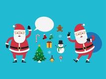 Caráter Santa Claus, ilustração do vetor Fotografia de Stock