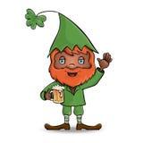 Caráter St Patrick leprechaun Vetor Fotos de Stock Royalty Free